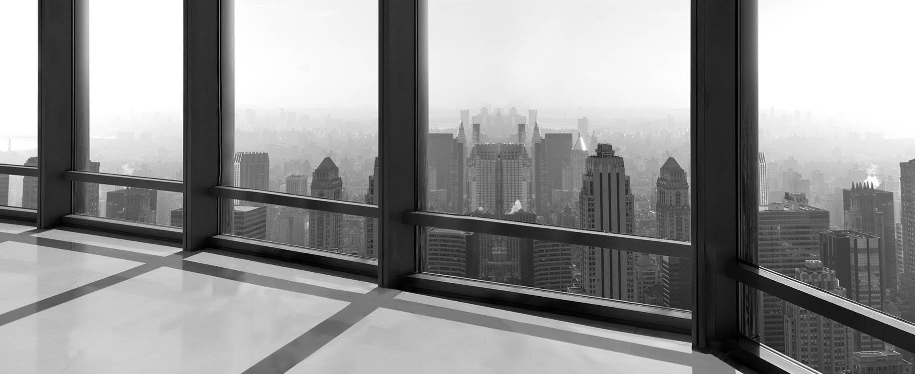 Office Building overlooking skyline